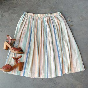Vintage El Mar California Colorful Striped Skirt